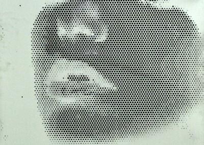 Fotobleche Gesicht 2