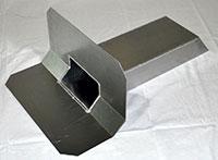 Rund 45° Klebeplatte für Randkeil 50 x 50 mm